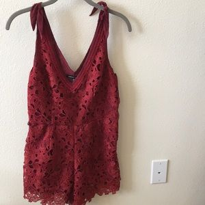 Red Lace Kendall & Kylie Romper
